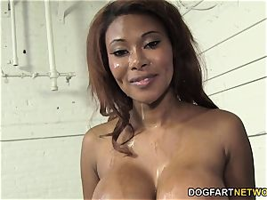 Kymora Lee Gets gang-fucked By Many milky studs