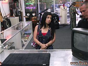 crazy teenage tart plumbing a Cuban gal for her TV