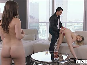 VIXEN nasty assistant Can't Hold Back Anymore In awesome three way