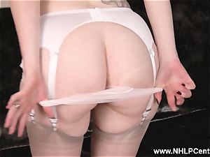 huge-chested ginger-haired strokes in lingerie vintage nylons