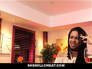 SheWillCheat - cuckold wife smashes bbc in bathroom