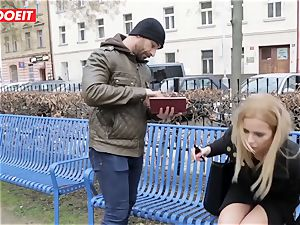 LETSDOEIT - super-steamy blonde Tricked Into romp By Czech dude