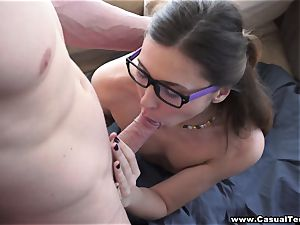 Casual nubile orgy Teeny picked up and ravaged