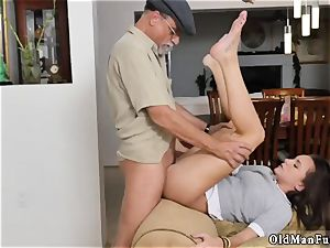 elderly granddad jizz shot damsel internal cumshot railing the elderly manhood!