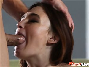 wonderful black-haired Jodi Taylor decides to make her first-ever fuckfest gauze