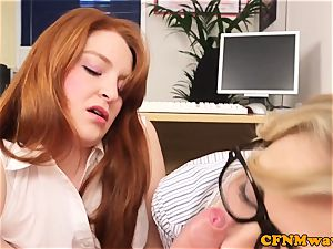 CFNM ginger female domination abase chief in office