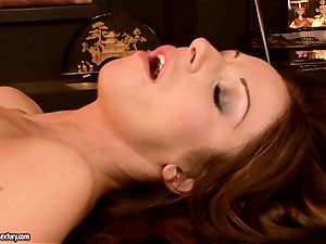 innocent gal Debbie milky is punctured in the facehole with senior guy shaft