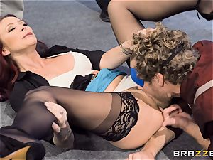 ultra-kinky office antics with Monique Alexander