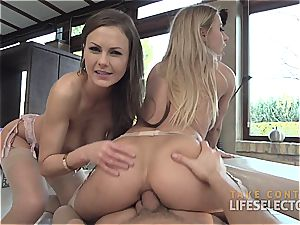 Tina Kay and Nikky Thorne - Feral rectal 3 way