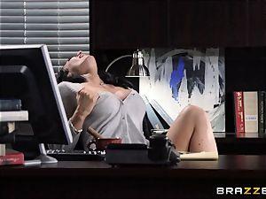 assistant Jayden Jaymes pummels on the bosses desk