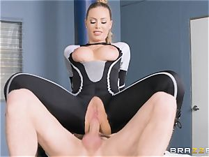 Nicole Aniston gets a facial after a hard deep nail
