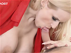 busty cougar educator seduces and porks student