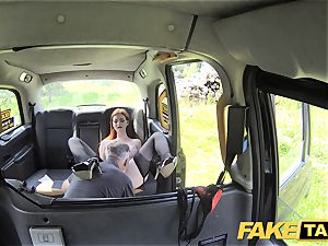fake cab Olive flesh ginger-haired in underwear