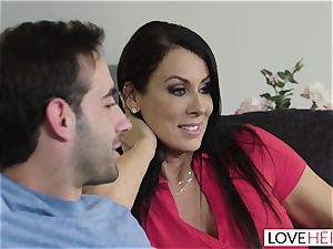 LoveHerFeet - Stepson tears up His Stepmom On The bed