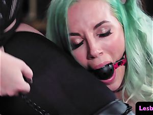 gagged dyke gets predominated by female domination