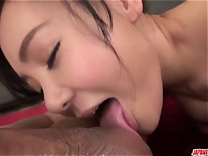 accomplish japanese hard-core hump with huge-chested Miu Watanabe