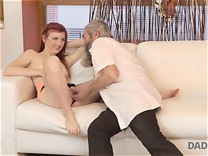DADDY4K. fellow and his elderly father squad up to punish trampy girlfriend