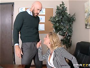 mummy manager Cherie Deville gets shafted by a ample dicked employee