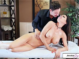 Jessica Jaymes takes Brad's thick wood and gets romped
