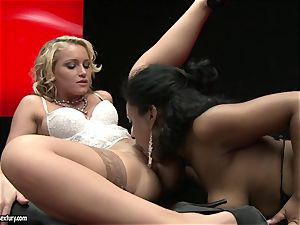 splendid Kathia Nobili enjoys finger plumbing her fucking partners mouth-watering humid gash fuckhole