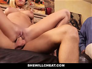 cuckold spouse watches Wifes fuckbox Get demolished