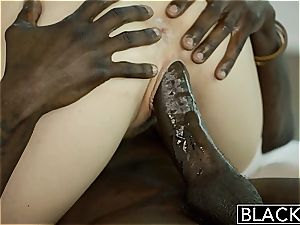 BLACKED uber-sexy towheaded Karla Kush Takes enormous ebony bone