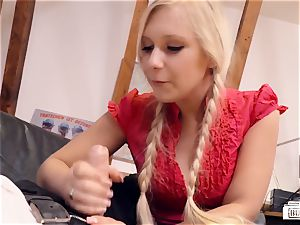 donks BUERO - seductive blondie assistant romps chief