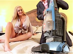 blond housewife Summer romps gorgeous salesman Lily