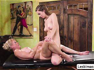 Brandi enjoy and Jill Kassidys scorching climax with scissor fuckfest