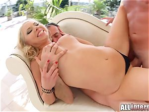 Allinternal ash-blonde takes a meaty fuck-stick in her tight ass