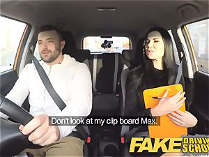 faux Driving school Jasmine Jae completely bare orgy in car
