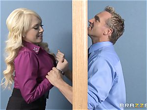 towheaded assistant Kagney Linn Karter banging her nasty colleague