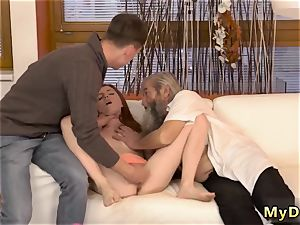 Real hookup old dude and while parent sleeps very first time sudden practice with an elder