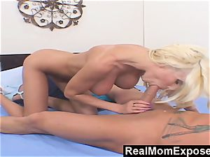 RealMomExposed satiate tear up My ample boobed mommy