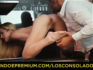 LOS CONSOLADORES - Hungarian towheaded gets plumbed pov