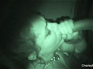 Night vision smashing with super warm Charley chase