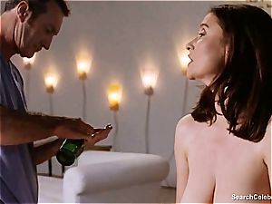 fabulous Mimi Rogers gets her entire body rubbed