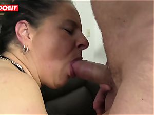 LETSDOEIT - naughty grandma's Get Cream-pied by Neighbors