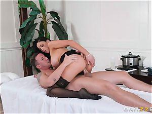 Audrey Bitoni gets a jizz load from Jessy