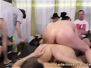lubricious nuru gang-fuck hump