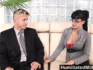 HumiliatedMilfs naughty secretary likes a ample rod