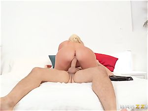 My wife's lustful humungous booty step-sister Nicolette Shea riding my meatpipe in the matrimonial bed