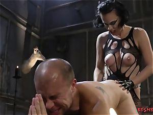 crazy dominatrix Pegging Her rectum