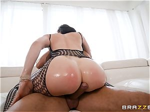 greasing up the gash of Chanel Preston and stretching her out