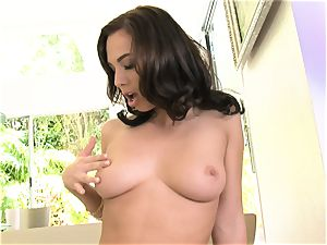 Aidra Fox getting naked for a getting off session