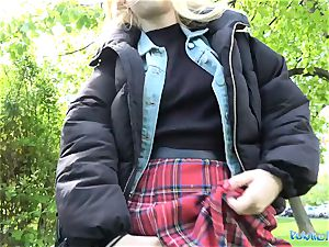 Public Agent torrid blond student fucked doggie-style