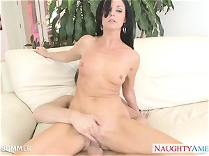 brown-haired India Summer gets cootchie humped
