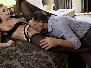 Nylons Sn 5 Britney Amber wears stellar tights as she romps