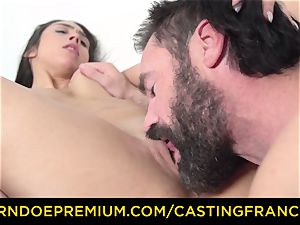 casting FRANCAIS - fledgling sweetie ravaged and cum decorated