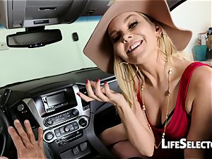 cocky mummy Aaliyah enjoy gives a deep throat in your car